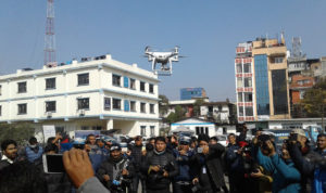 अब काठमाडौंमा ट्राफिकको ड्रोन
