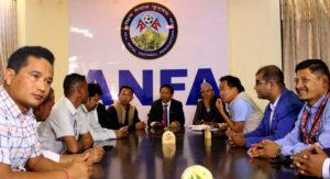 अखिल नेपाल फुटबल संघलाई पाँच लाख अमेरिकी डलर सहयोग