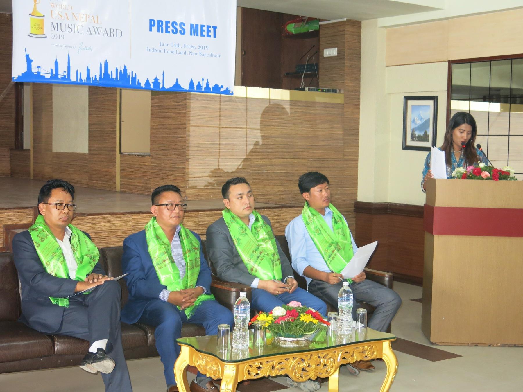 वर्ल्ड युएसए-नेपाल म्युजिक अवार्ड २०१९ अमेरिकामा नोभेम्बर २३ मा आयोजना हुने
