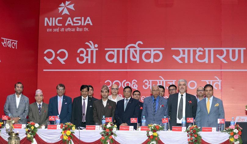 एनआईसी एशिया बैंकले २१.०५ प्रतिशत लाभांश दिने