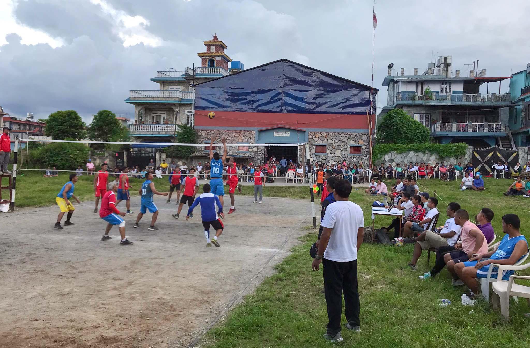 क्लब स्तरीय भलिबल प्रतियोगितामा क्वाटरफाईनलका खेल सम्पन्न