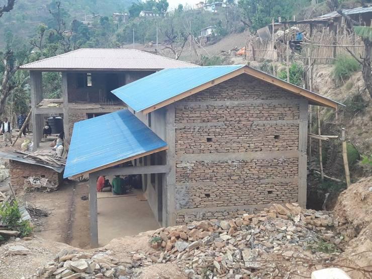 भूकम्पले लडाएका घर सरकारी अनुदानमा ठडिए