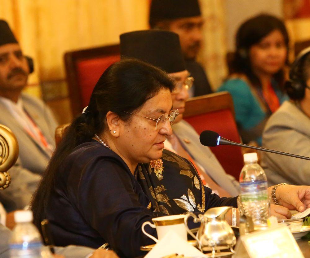 नेपाल–चीन सम्बन्ध सागर झैँ गहिरो र सगरमाथा जस्तै उच्च छ – राष्ट्रपति भण्डारी, नेपाललाई भूजडित बनाउन चीनले सघाउछ – राष्ट्रपति सी