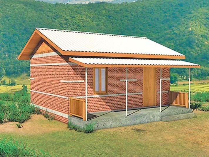 अर्जुनधारामा विपन्न परिवारका लागि घर निर्माण गरिँदै