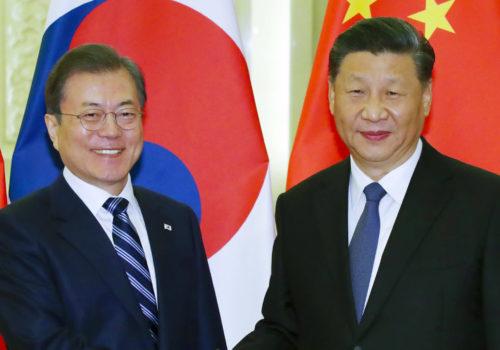 दक्षिण कोरिया र चीनका राष्ट्रपति बीच भेटवार्ता