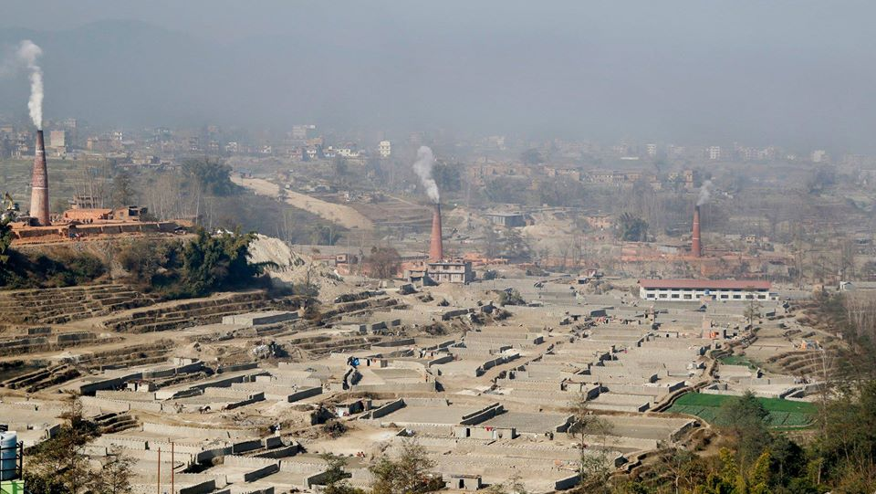 Brick factory in nepal