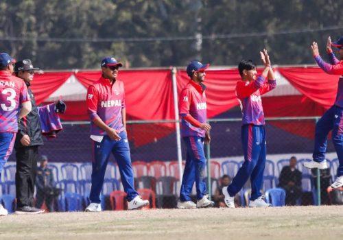आइसीसी विश्वकप क्रिकेट लिग-२ : नेपालले ओमानसंग खेल्दै