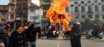 ललितपुरबासीले जलाए मेयर चिरीबाबुको पुत्ला