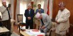प्रधानमन्त्री ओलीले आफ्नो जन्मदिन जन्मस्थान तेह्रथुमको इवामा मनाउँदै