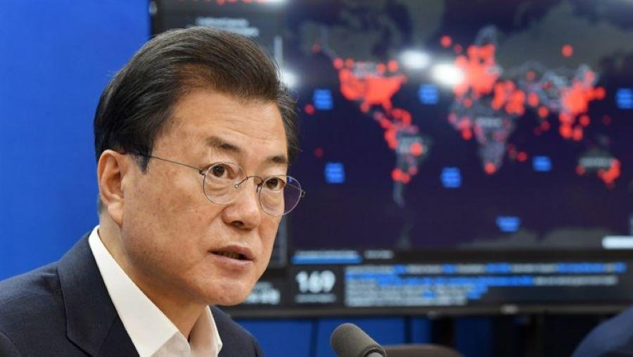 'कोरोना युद्ध' बारे कोरियाली राष्ट्रपति मुनले सम्बोधन गर्ने