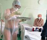 विकिनीमा नर्स देखेर कोरोना बिरामी छक्क !