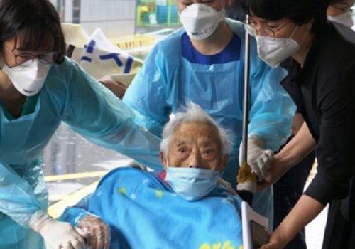 कोरियामा १०४ वर्षीया बृद्धाले जितिन कोरोना