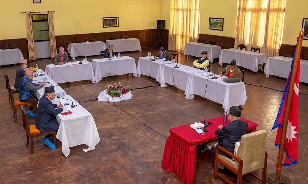 नेकपा सचिवालय बैठक बालुवाटारमा जारी