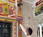कोरोनाबाट बच्न मन्दिरको घण्टीमा सेन्सर,हात जोडेर उभिँदा घण्टी बज्छ