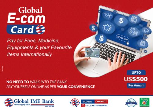 ग्लोबल आइएमईले जारी गर्यो ईकम डलर कार्ड