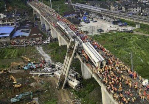 चीन गान्सुमा रेल दुर्घटना, ९ को मृत्यु